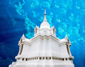 The White pagoda at koh-kor,petchaboon province,Thailand — Stock Photo