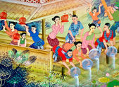The Painting art of culture thai style — Stock Photo