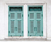 The Old window on wall background — Stock Photo
