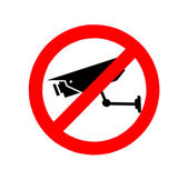 The Sign of no video surveillance isolated on white background — Stockfoto