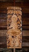 仏ステータスの彫刻木 — ストック写真