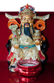 The God of wealth rich and prosperity chinese style — Stock Photo