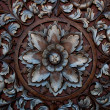The Old carving wood ornament of flower pattern thai style — Stock Photo #9638238