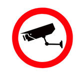 The Sign of Video surveillance sign isolated on white background — Stock Photo