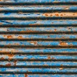The Rusty corrugated metal texture background — Stockfoto