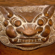 The Old steel tiger Incense burner - Stock Photo