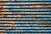 The Rusty corrugated metal texture background — Stock Photo