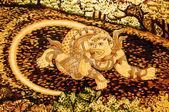 El arte de la pintura de hanuman en pared. esto es tradicional y gen — Foto de Stock