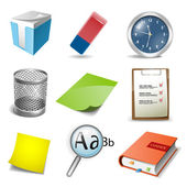 Büro icons set — Stockvektor