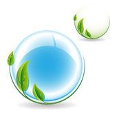 Green bio icon — Stock Vector