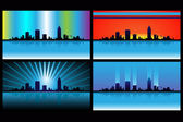 Skyline lights — Stock Vector