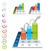 Infografia 3d — Vetor de Stock
