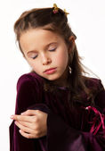 Little brunette girl sleep — Stock Photo