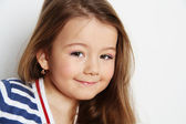 Litle girl smile — Stock Photo