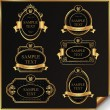 Black gold-framed labels — Stock Vector #9767905