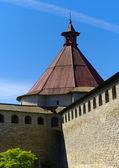 Tower of schlisselburg fortress — Stock Photo