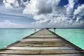 Pier in Lagoon — Stock Photo