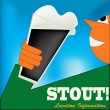 Stock Vector: Cheers, Irish Stout Poster