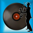 Vinyl Record Background — Imagen vectorial