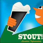 Cheers, Irish Stout Poster — Stock Vector