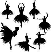 Classical Ballerina Silhouettes — Stock Vector