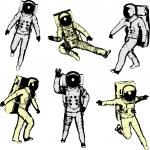 Постер, плакат: Astronauts