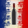 French Wine Menu — Stock Vector