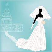 Retro Wedding Background — Stock Vector