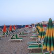 Sunbeds on the Beach, Cattolica, Italy — Stock Photo #10160208