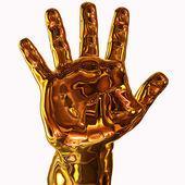 Zlatá ruka — Stock fotografie