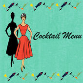 Retro cocktailmeny — Stockvektor