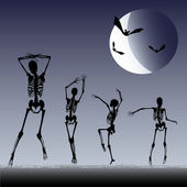 Dancing Skeletons — Stock Vector
