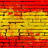 Spanish Brick Wall Background — Stock Vector