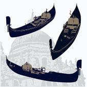 Gondolas — Stock Vector
