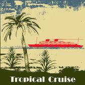 Tropen-Kreuzfahrt-Hintergrund — Stockvektor