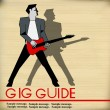 Retro Guitar Gig Guide — Stock Vector