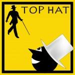 Top Hat Message — Stock Vector
