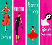 Retro Vertical Web Banner Templates — Stock Vector