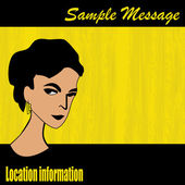 Retro Message Background — Stock Vector