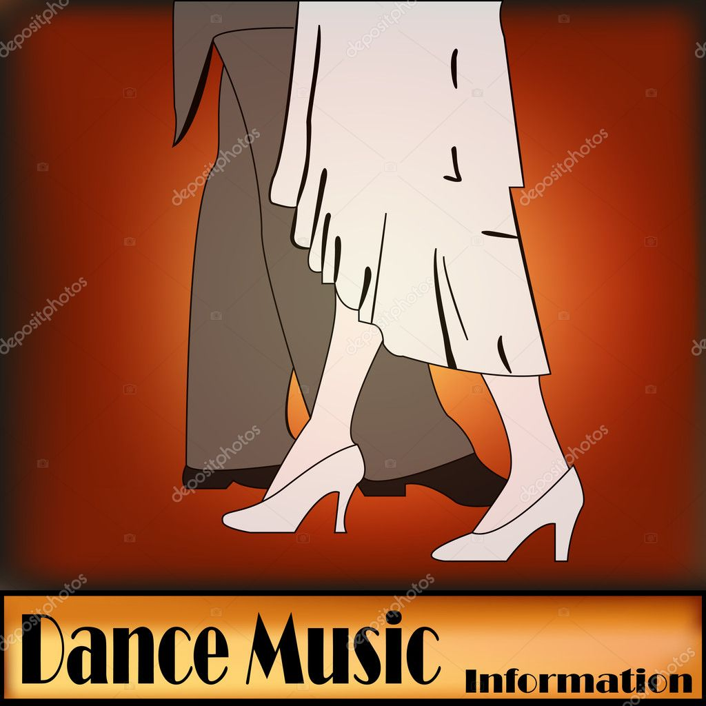 A vintage style Ballroom Dancing background illustration  Stock Vector #10491031