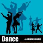 Dance Club Flyer — Stock Vector