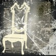 Shattered Chair Background — Stock Vector