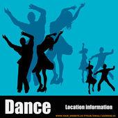 Folleto del club de baile — Vector de stock