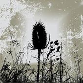 Grunge Weeds — Stock Vector