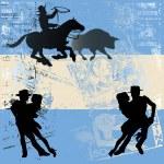 Argentinian Flag — Stock Vector
