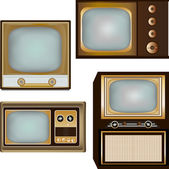 Vintage Television Designs — Stock Vector