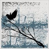 Grunge Bird Background — Stock Vector