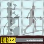 Exercise Window — Stock Vector