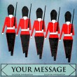 Royalty-Free Stock Imagen vectorial: Marching Guardsmen
