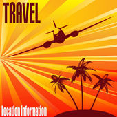 Tropical Travel Background — Stock Vector